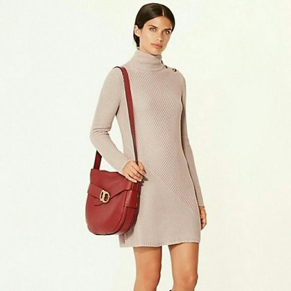 5dac5a2b6b4 Tory Burch Dresses | Brodie Tunic Rib Knit Dress Sz Xl Nwt | Poshmark
